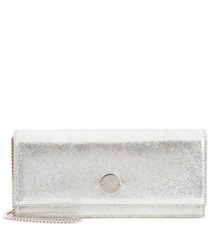 Fie metallic leather clutch