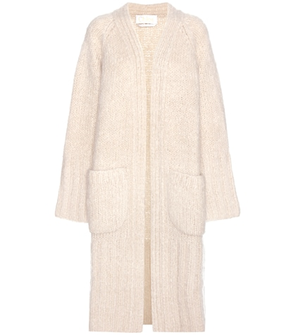 Oversized mohair, wool and cashmere cardigan