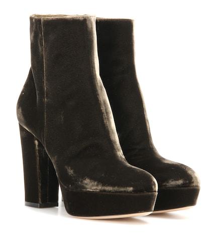 Temple Velvet Platform Boots