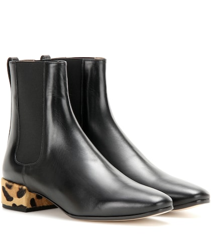 Photo of Calf Hair-embellished Leather Chelsea Boots Francesco Russo online