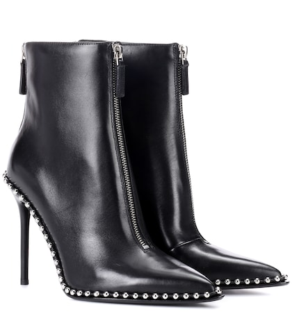 alexander wang female embellished leather ankle boots