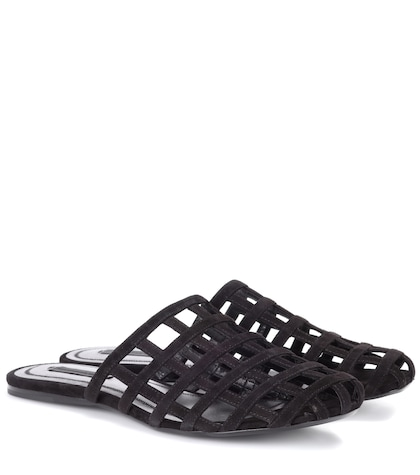 alexander wang female suede sandals