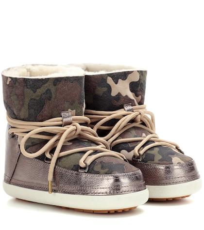 Camouflage Low suede boots