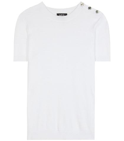apc female 45883 tracy knitted cotton tshirt