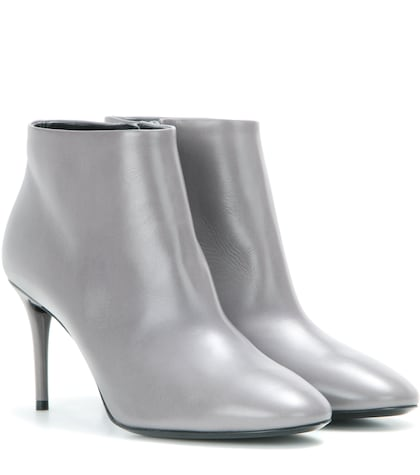 balenciaga female 45906 leather ankle boots