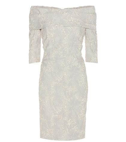 carolina herrera female jacquard offtheshoulder dress