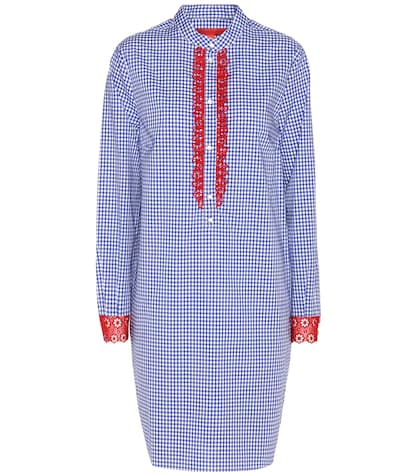 tommy hilfiger female checked cotton shirt dress