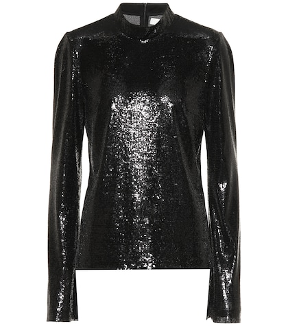 Galaxy sequinned top