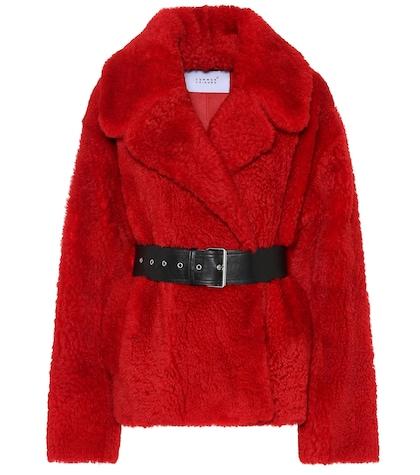 Love Short shearling jacket