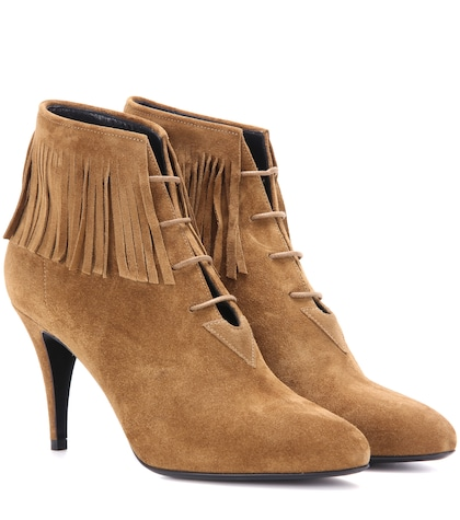 Anita 85 fringed suede ankle boots