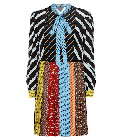 Knight Printed Pleated Dress
