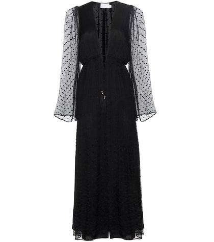 zimmermann female embroidered silk jumpsuit