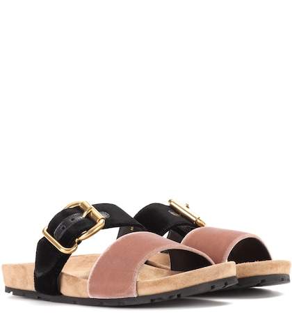 prada female exclusive to mytheresacom velvet sandals