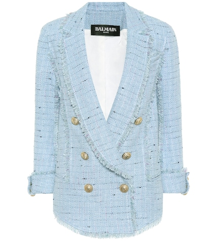 Cotton-blend tweed blazer