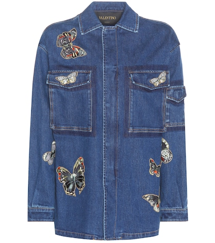 Denim Jacket With Embroidered Appliqué