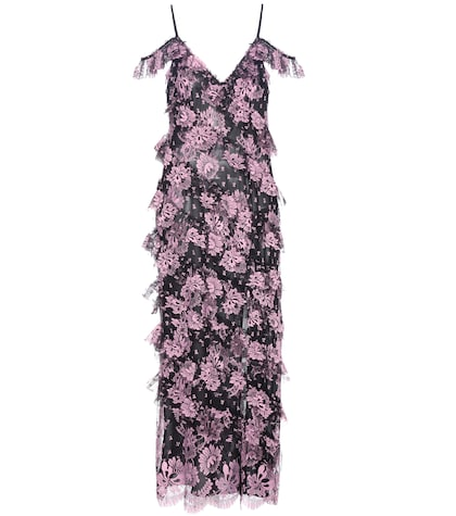 alessandra rich female 211468 ruffled lace maxi dress