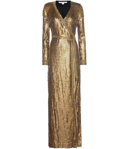 diane von furstenberg female ariel armour wrap gown