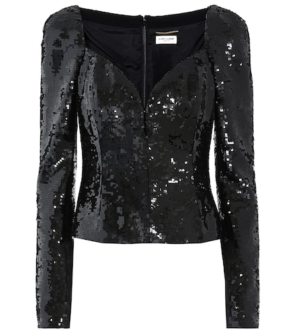 Sequin-embellished top