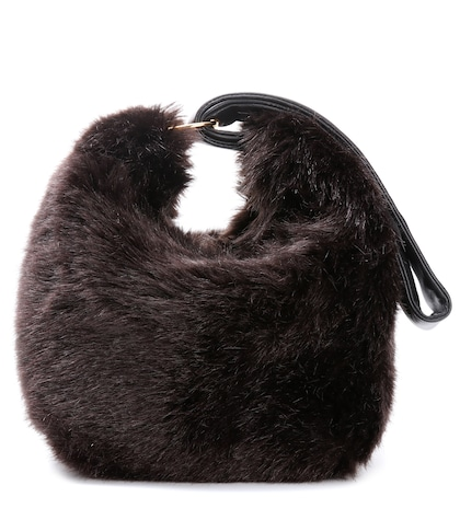 Tissue faux-fur handbag