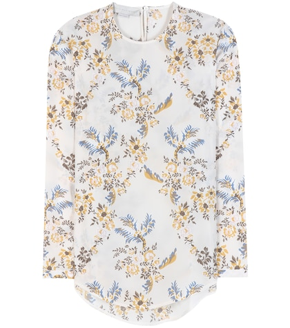 stella mccartney female printed floral silk blouse