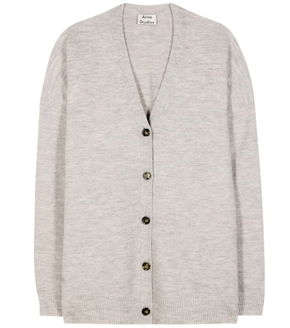 acne studios female mesi oversized wool cardigan
