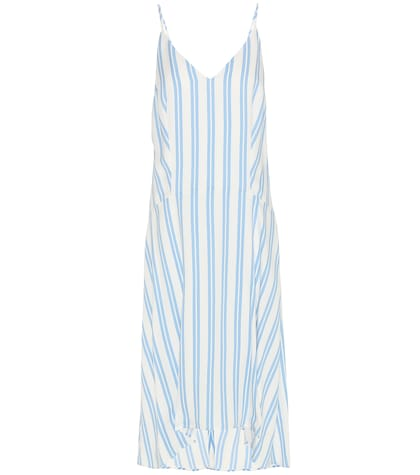 Striped Silk-blend Dress