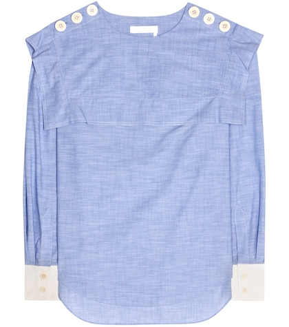 Cotton chambray top