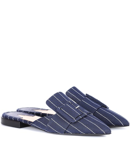 Izy striped slippers