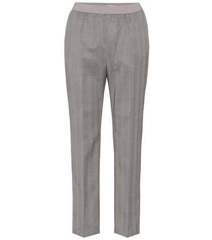 agnona female wool trousers