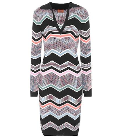 Knitted wool-blend dress