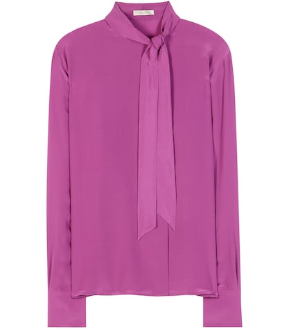 Pussy Bow Silk Georgette Blouse
