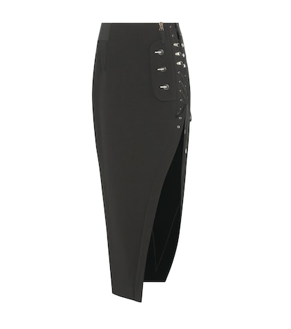anthony vaccarello female crepe pencil skirt