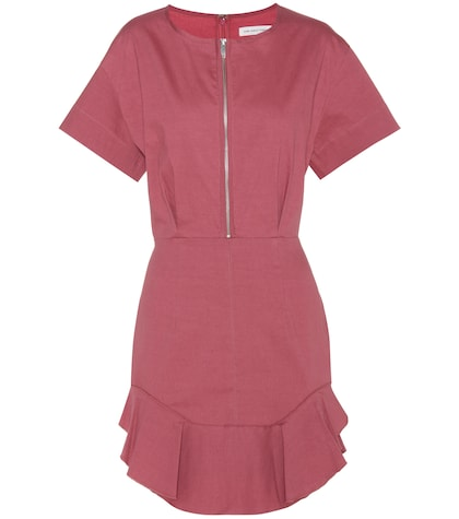 isabel marant etoile female neit cotton and linenblend dress