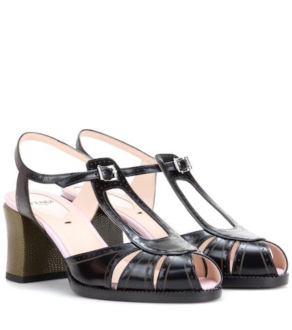 fendi female leather sandals