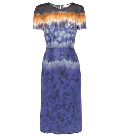 altuzarra female glaze printed silk dress
