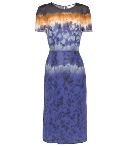 Glaze printed silk dress
