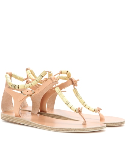 ancient greek sandals female chrysso leather sandals