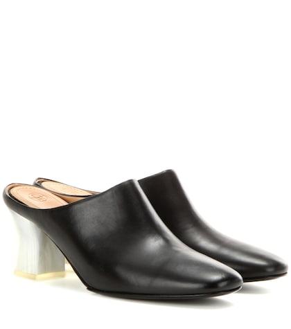 Adela leather slippers