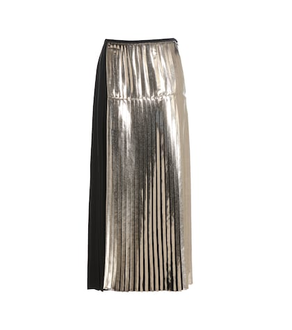 Carmen Metallic Pleated Skirt