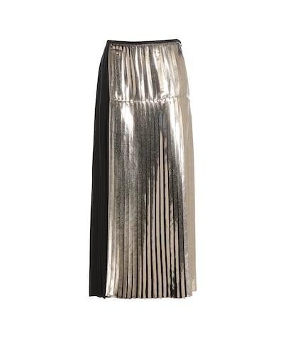 Carmen metallic pleated skirt