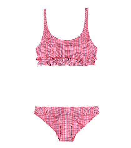 Colby Ruffled Seerusker Bikini