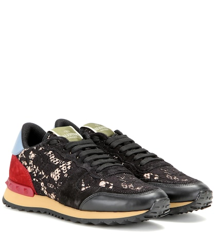 Rockrunner Lace, Leather And Suede Sneakers