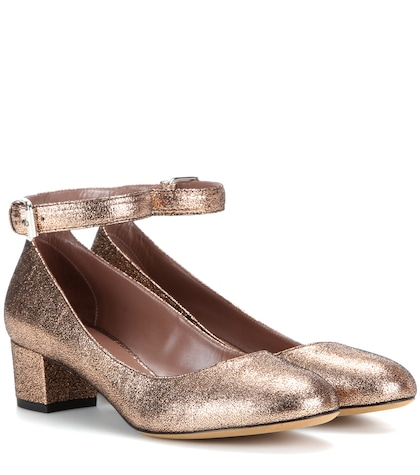Martha metallic leather pumps