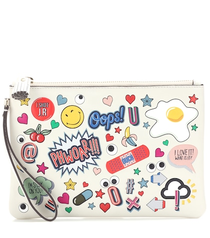 anya hindmarch female all over stickers leather pouch