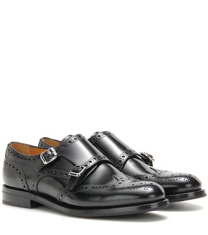 Lana leather monk shoes
