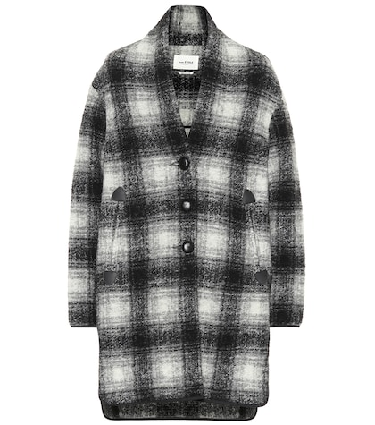 Gabrie checked wool-blend jacket