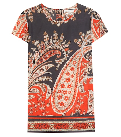 Severine Printed Cotton Top