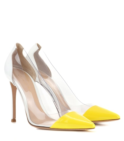 gianvito rossi female exclusive to mytheresacom plexi patent leather and transparent pumps