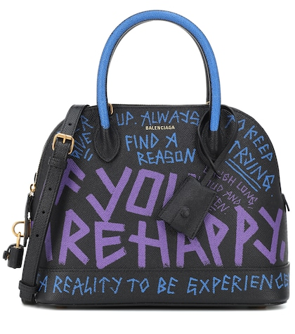 Ville S Graffiti leather tote