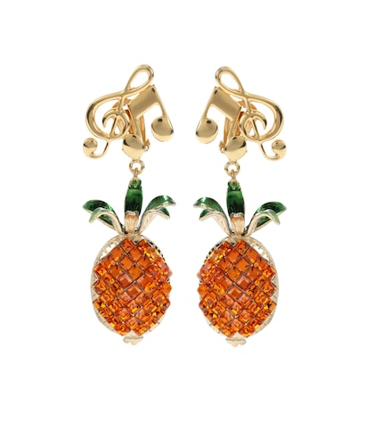 dolce gabbana female crystalembellished clipon earrings